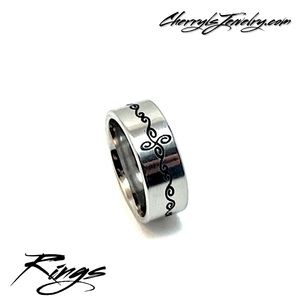 Jewelry - Stainless Steel Band RIng Sz 7.5